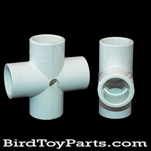 "1/2"" PVC Cross - Drilled"